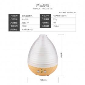 Alloet Aromatherapy Air Humidifier Oil Diffuser Egg Shape 235ml + RGB Light - AJ-506 - Brown - 8
