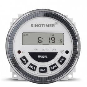 Sinotimer Programmable Timer Switch Relay Countdown Time 10A 220V AC - TM-619H-2 - White - 3
