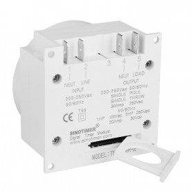 Sinotimer Programmable Timer Switch Relay Countdown Time 10A 220V AC - TM-619H-2 - White - 5
