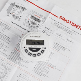 Sinotimer Programmable Timer Switch Relay Countdown Time 10A 220V AC - TM-619H-2 - White - 6