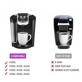 Belr K-Cup 2.0 Reusable Capsule Filter 3 PCS for Keurig Coffee Machine - HL24 - Black - 2