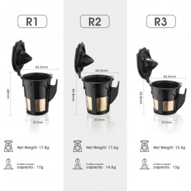 Belr K-Cup 2.0 Reusable Capsule Filter 3 PCS for Keurig Coffee Machine - HL24 - Black - 3