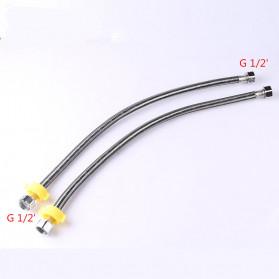 JRJUBB Selang Shower Fleksibel Braided Hose Stainless Steel 40CM - JR013387 - Silver - 4