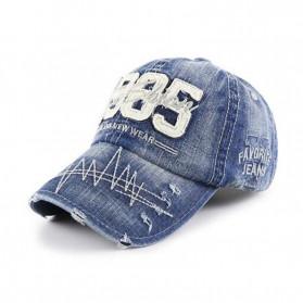 XEONGKVI Topi Baseball 1985 Bordir Cap Snapback Cotton Unisex  - BQ9119 - Blue