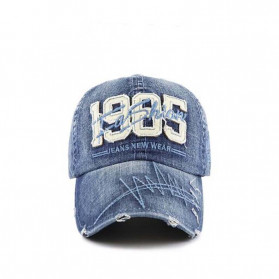 XEONGKVI Topi Baseball 1985 Bordir Cap Snapback Cotton Unisex  - BQ9119 - Blue - 2