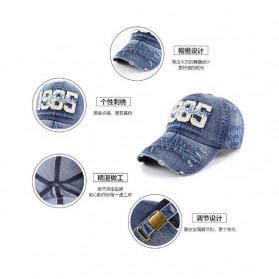 XEONGKVI Topi Baseball 1985 Bordir Cap Snapback Cotton Unisex  - BQ9119 - Blue - 4