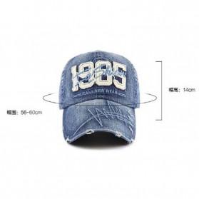 XEONGKVI Topi Baseball 1985 Bordir Cap Snapback Cotton Unisex  - BQ9119 - Blue - 5