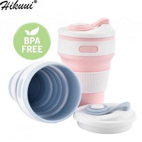 COLLAPSIBLE Gelas Lipat Silikon Foldable Travel Mug 350ml - GY56 - Gray - 3