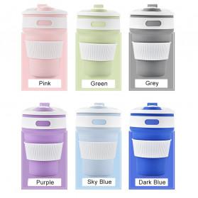 COLLAPSIBLE Gelas Lipat Silikon Foldable Travel Mug 350ml - GY56 - Gray - 4