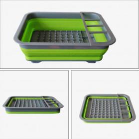 AsyPets Rak Pengering Dapur Piring Gelas Foldable Collapsible Drainer - QW-822 - Gray - 5