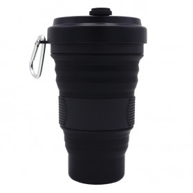 ACEBON Gelas Lipat Silikon Foldable Travel Mug 550ml - GY500 - Black