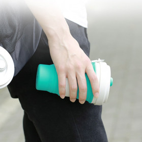 ACEBON Gelas Lipat Silikon Foldable Travel Mug 550ml - GY500 - Blue - 4