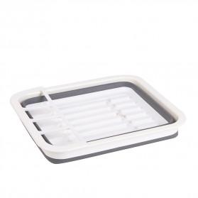 Waasoscon Rak Pengering Dapur Piring Gelas Foldable Collapsible Drainer - QW-823 - Gray - 8