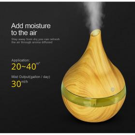 Taffware Air Humidifier Ultrasonic Aromatherapy Oil Diffuser Wood Grain 300ml - Humi K-H98 - Brown - 9