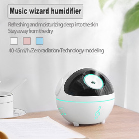 ISHOWTIENDA Ultrasonic Air Humidifier Aromatherapy Music Wizard Rechargeable 350ml - K-H99 - Pink - 5