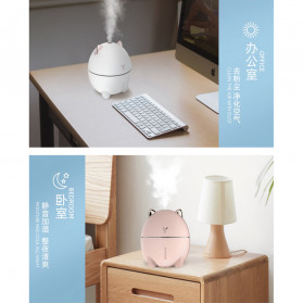 LOVELY Dudu Cat Ultrasonic Air Humidifier Aromatherapy Night Light 200ml - DDM-1 - Pink - 4