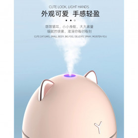 LOVELY Dudu Cat Ultrasonic Air Humidifier Aromatherapy Night Light 200ml - DDM-1 - Pink - 5
