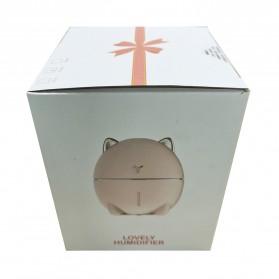 Taffware Dudu Cat Air Humidifier Ultrasonic Aromatherapy Oil Diffuser Night Light 200ml - HUMI DDM-1 - Pink - 12