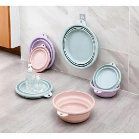 Basin Wadah Baskom Ember Lipat Cuci Baju Mancing Foldable Collapsible Size M - H018 - Blue - 8