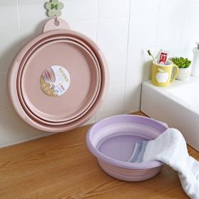 Basin Wadah Baskom Ember Lipat Cuci Baju Mancing Foldable Collapsible Size L - H018 - Blue - 3