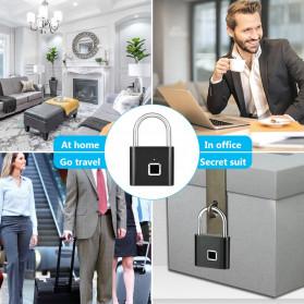 KERUI Gembok Koper Rumah Smart Fingerprint Padlocks - GSWLS01 - Black - 7