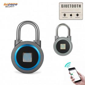OKLOK Gembok Koper Rumah Smart Fingerprint Padlock iOS Android APP Control - PB50 - Blue - 3
