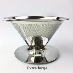 Ueinsang Filter Penyaring Kopi V60 Cone Coffee Filter Double Layer Extra Large - F-404T - Silver