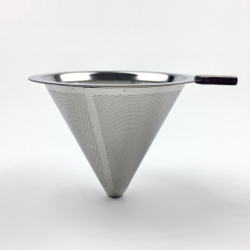Ueinsang Filter Penyaring Kopi V60 Cone Coffee Dripper Filter Size Medium - F-402 - Silver