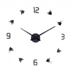 Jam Dinding DIY Giant Wall Clock Quartz Creative Design - DA01 - Black - 2