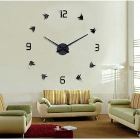 Jam Dinding DIY Giant Wall Clock Quartz Creative Design - DA01 - Black - 3