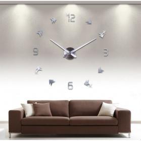 Jam Dinding DIY Giant Wall Clock Quartz Creative Design - DA01 - Black - 4