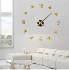 Jam Dinding DIY Giant Wall Clock Quartz Creative Design - DA01 - Black - 5