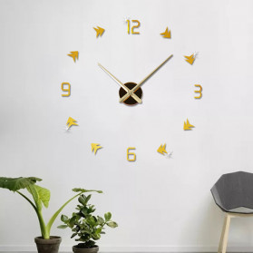Jam Dinding DIY Giant Wall Clock Quartz Creative Design - DA01 - Black - 6