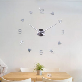 Jam Dinding DIY Giant Wall Clock Quartz Creative Design - DA01 - Black - 7