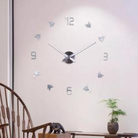 Jam Dinding DIY Giant Wall Clock Quartz Creative Design - DA01 - Black - 8