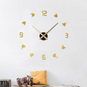 Jam Dinding DIY Giant Wall Clock Quartz Creative Design - DA01 - Black - 9