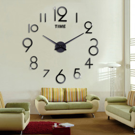 Jam Dinding DIY Giant Wall Clock Quartz Creative Design - DA03 - Black