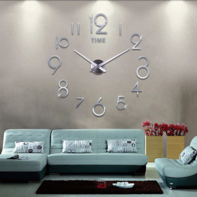 Jam Dinding DIY Giant Wall Clock Quartz Creative Design - DA03 - Black - 2