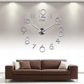 Jam Dinding DIY Giant Wall Clock Quartz Creative Design - DA03 - Black - 3
