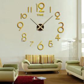 Jam Dinding DIY Giant Wall Clock Quartz Creative Design - DA03 - Black - 4