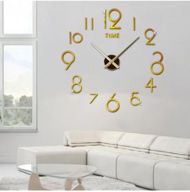 Jam Dinding DIY Giant Wall Clock Quartz Creative Design - DA03 - Black - 5