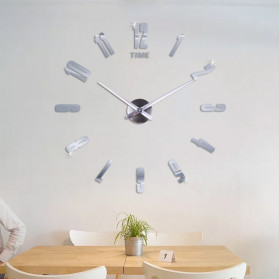 Jam Dinding DIY Giant Wall Clock Quartz Creative Design - DA06 - Black