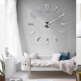 Jam Dinding DIY Giant Wall Clock Quartz Creative Design - DA06 - Black - 2