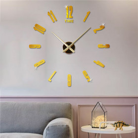 Jam Dinding DIY Giant Wall Clock Quartz Creative Design - DA06 - Black - 6