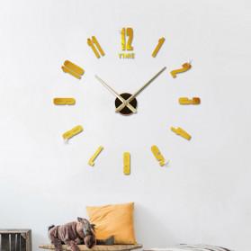 Jam Dinding DIY Giant Wall Clock Quartz Creative Design - DA06 - Black - 7