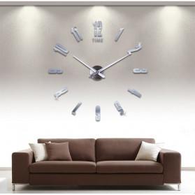 Jam Dinding DIY Giant Wall Clock Quartz Creative Design - DA06 - Black - 8
