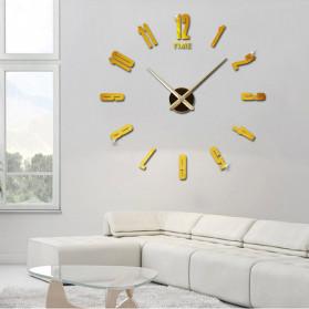 Jam Dinding DIY Giant Wall Clock Quartz Creative Design - DA06 - Black - 9