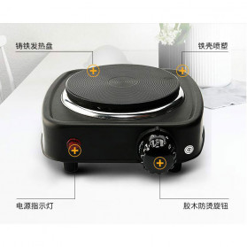 Adoolla Kompor Listrik Mini Hot Plate Electric Cooking 500W - DLD-101A - Black - 8