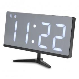 LUMINOVA Jam Meja LED Digital Mirror Clock with Temperature - DS3618L - White - 2