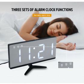 LUMINOVA Jam Meja LED Digital Mirror Clock with Temperature - DS3618L - White - 5